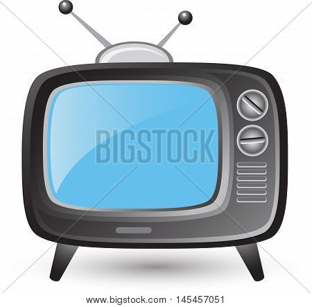 Retro tv vector set flat design on a white background. illustration