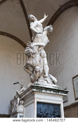 Statue The Rape Of The Sabine Women In Florence