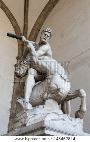 Hercules And Nessus In Florence, Italy