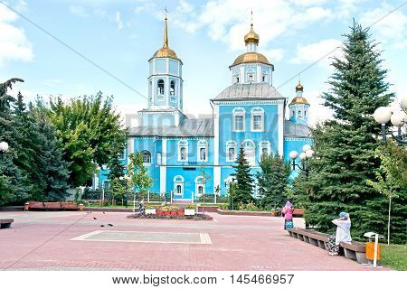 Square before the Smolensk cathedral in city Belgorod
