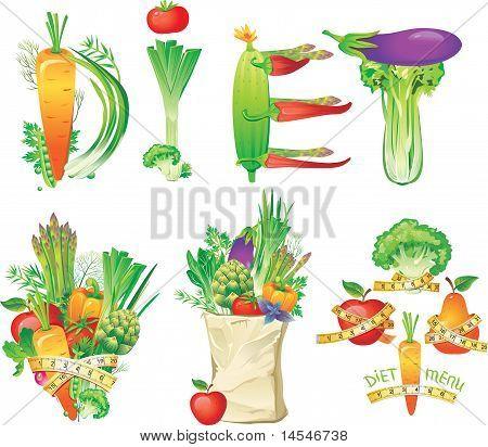 Diet menu concept