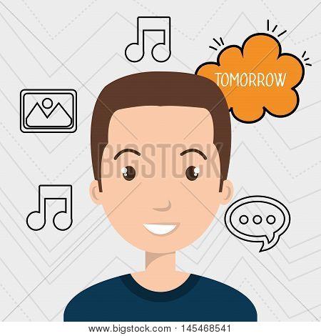 man speak bubble design vector illustration eps 10