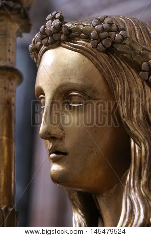 Statue of an angel in the Papal Basilica of Saint Mary Major in Rome