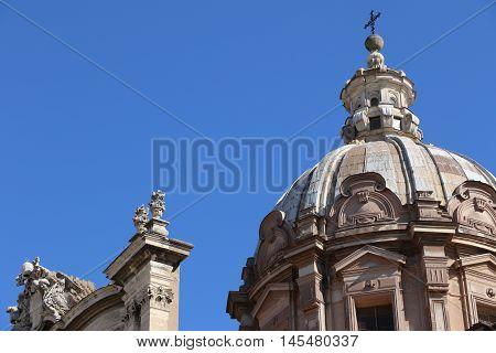 The church of Santi Luca e Martina in Rome