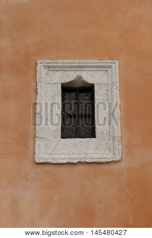 Old window in the city of Rome