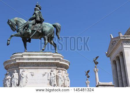 The National Monument to Victor Emmanuel II in Rome - The Altare della Patria