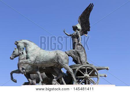 Statue of the National Monument to Victor Emmanuel II in Rome - The Altare della Patria