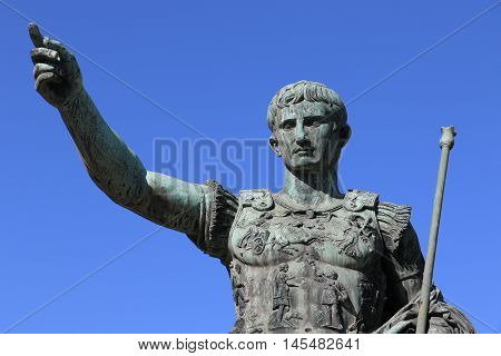 Statue of the roman emperor Julius Caesar in Rome