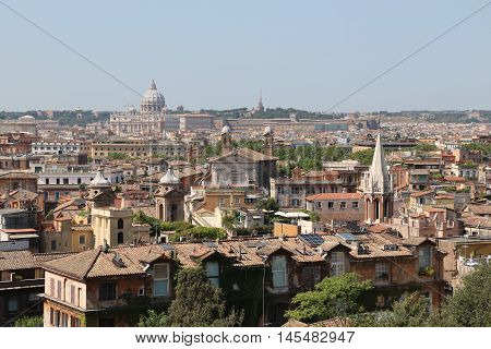 Panoramic view of the city of Rome