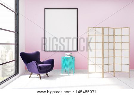 Dressing Room With Pink Wall