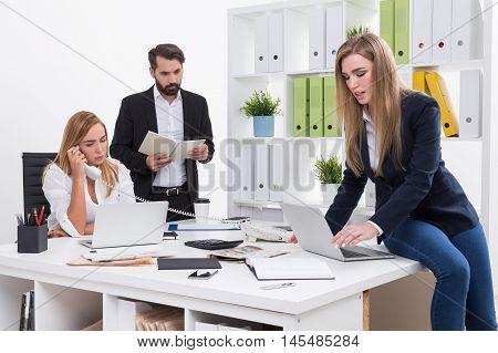Startup Team At Work