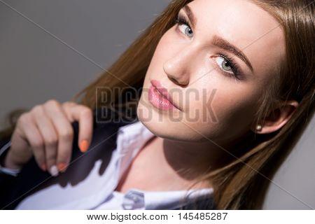 Half Smiling Woman