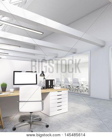 Computer Screen On Desk