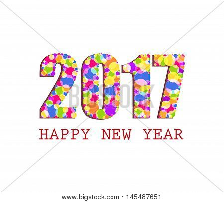 2017 Happy New Year Greetings Card
