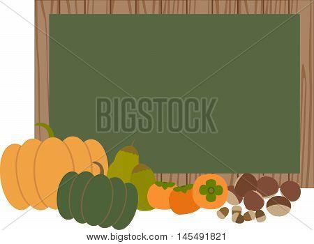 fall autumn vegetable acon chestnut pear persimmon pumpkin     tree,grass,wheat,barley,banner
