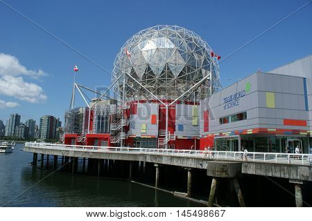 VANCOUVER, Canada - July 23, 2016. Science World at the Telus World of Science, a non-profit organization  located in Vancouver British Columbia.