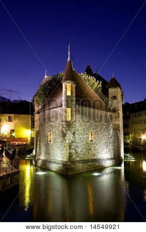Palace Of Isle ( Palais de l'isle ) By Night At Annecy