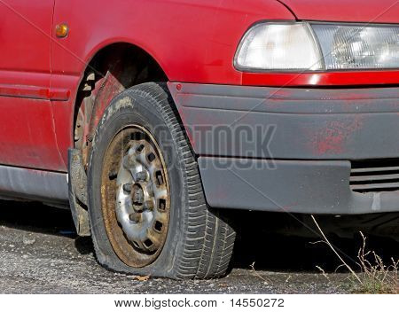 Punctured wheel