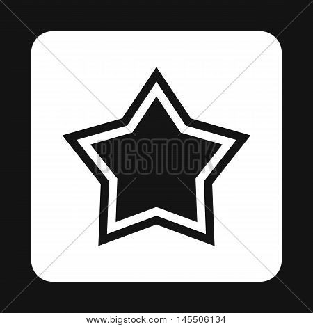 Star icon in simple style isolated on white background. Figure symbol