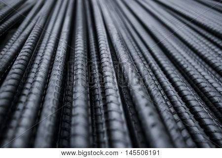 Closeup of Steel Rod. Steel Rod. Steel Bar. Iron Wire.