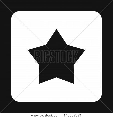 Black celestial star icon in simple style isolated on white background. Figure symbol