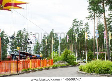 Kouvola Finland 7 June 2016 - Amusement park Tykkimaki