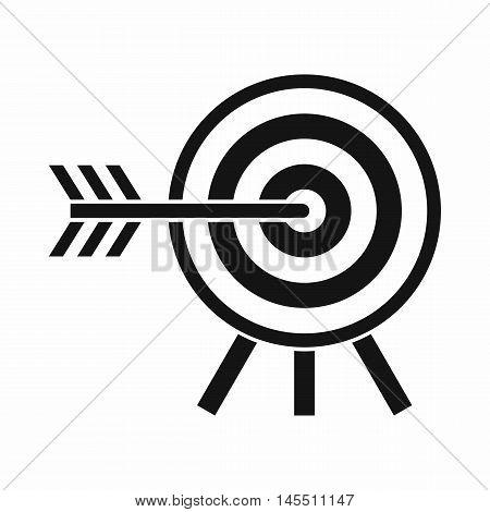 Darts icon in simple style isolated on white background. Sport symbol