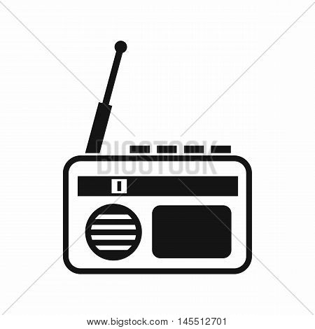 Radio icon in simple style isolated on white background. Music symbol