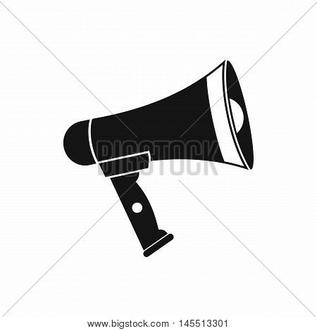 Mouthpiece icon in simple style isolated on white background. Loud sound symbol
