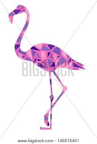 flamingo vector illustration, silhouette flamingo vector , pink bird, abstract flamingo