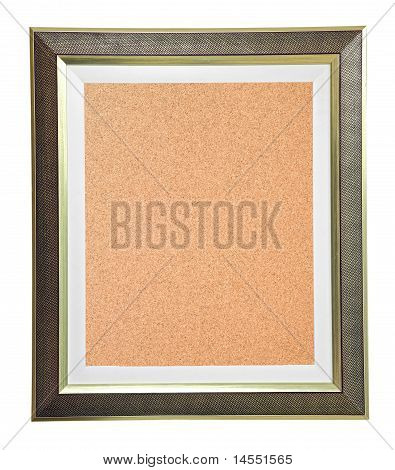 Isolated Cork Notice Board With Modern Frame