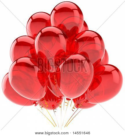 Red party balloons classic