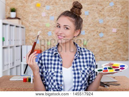 Creative Woman Painter