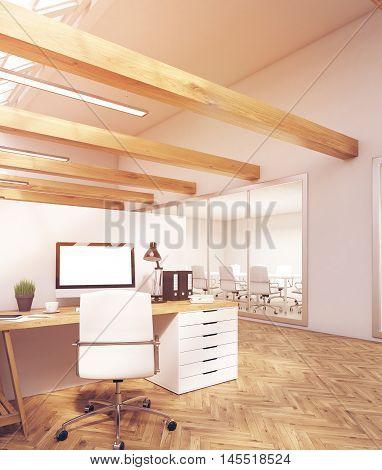 Sunlit Computer Table