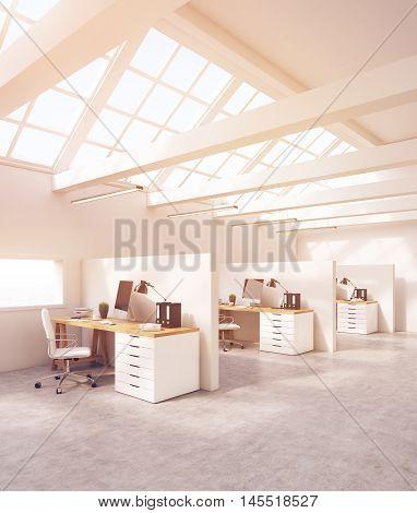 White Studio In Attic