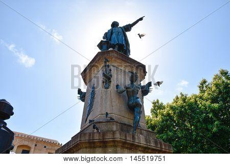 Statue of Christopher Columbus. Columbus Park, Santo Domingo, Dominican Republic.