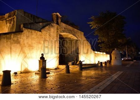SANTO DOMINGO, DOMINICAN REPUBLIC - January 24, 2016: Puerta del Conde,
