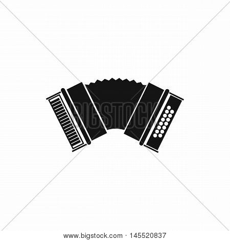 Accordion icon in simple style isolated on white background. Musical instruments symbol