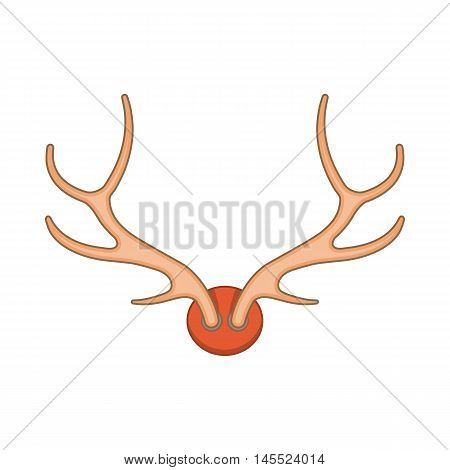 Antlers icon in cartoon style on a white background
