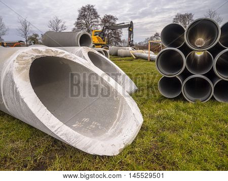 Pipes On Construction Site
