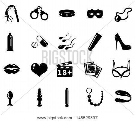 Vector Sex Shop Icons