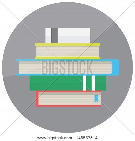 Pile of book icon. Stack of book isolated stack of old book vector illustration