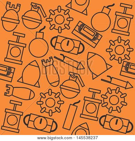 Bomb icons pattern. Vector illustration EPS 10