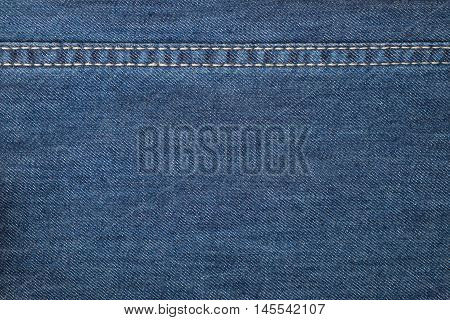 Background made of blue jeans denim textile
