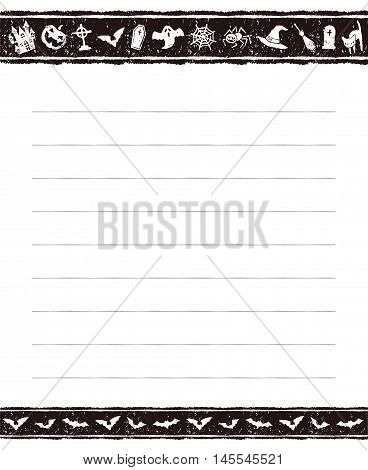 Halloween black and white memo pad design