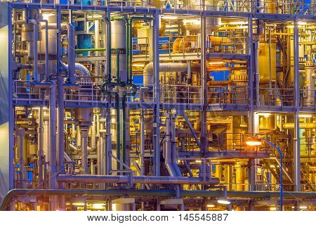 Detail Of A Chemical Plant Framework