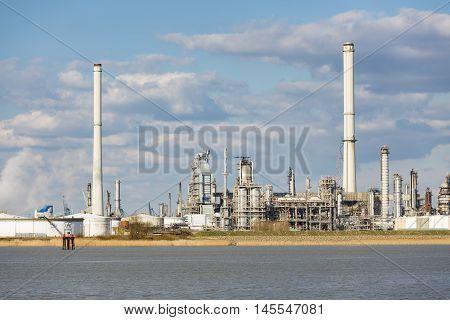 Antwerp Port Refinery And Storage Tanks