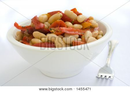 White Bean Salad With Red Pepper And Tomato