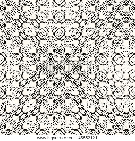Weaving, Seamless monochrome pattern, black and white