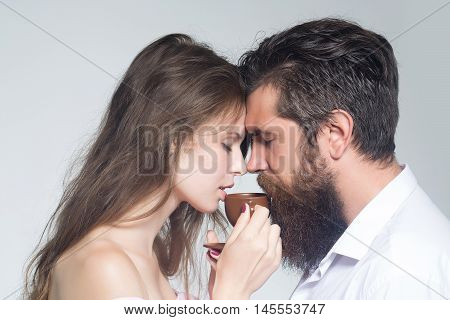 Young Couple With Coffee Cup